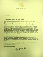 Letter from President Ford for the 2006 call to the Wall reunion